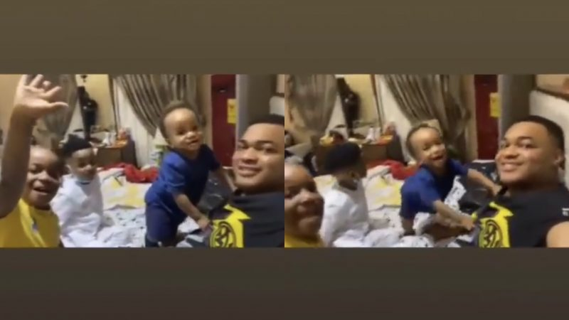 Kwadwo Safo Jnr, Spends Quality Time With His Children In An Adorable Video