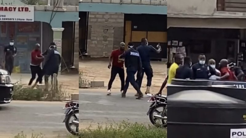 Video Of Funny Face Being Arrested By The Police Taking Slaps