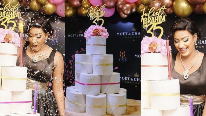 Juliet Ibrahim Got Herself A Tissue Cake Because She Has Been Through Shìt (photos)