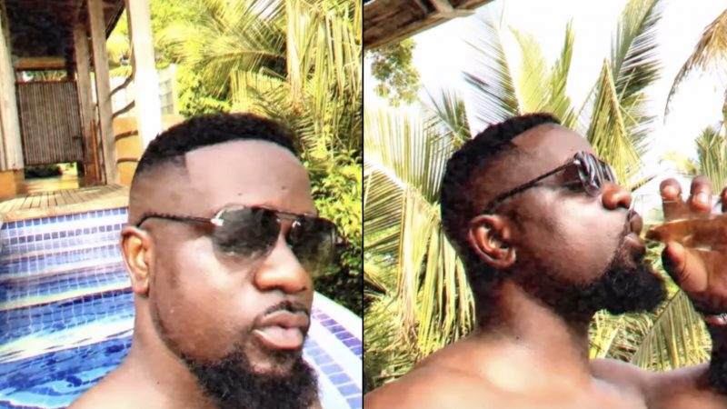 Sarkodie Shares Bare chested For The First Time And Causes Reactions On Net (video)