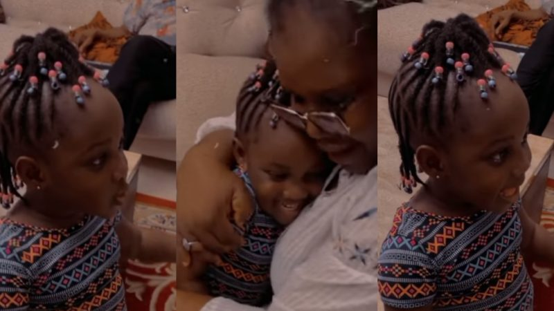 Stonebwoy's Daughter Displays Her Mind Blowing Singing Talent, Singing A Birthday Song To Her Grandma