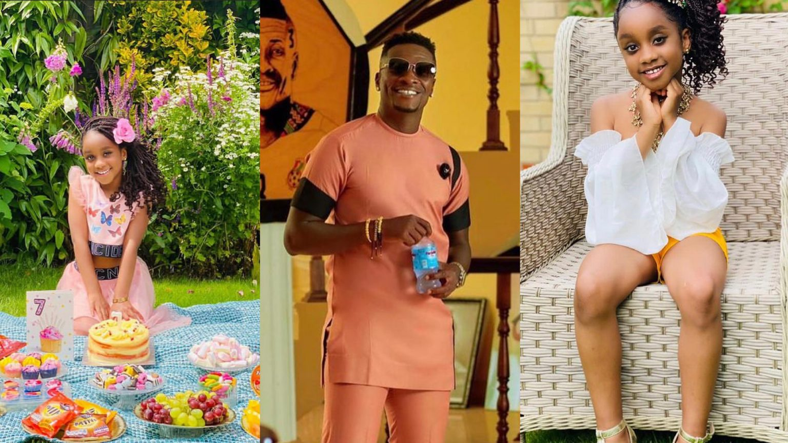 Asamoah Gyan's Daughter Looking More Stunning As She Celebrates Her Seventh Birthday